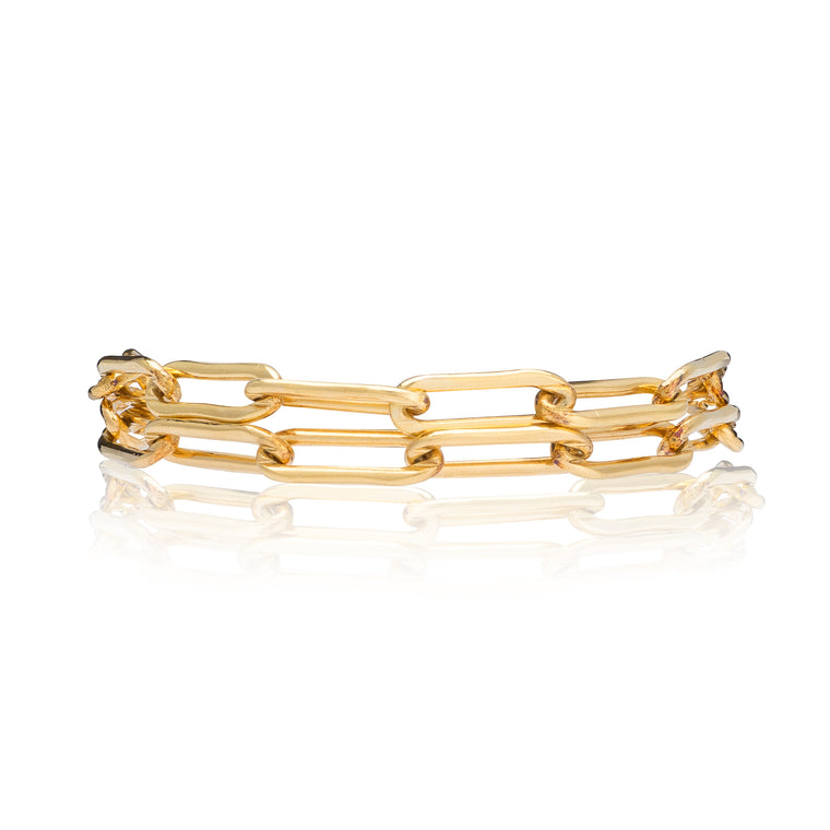 Yellow Gold Filled Chain Double Wrap Bracelet