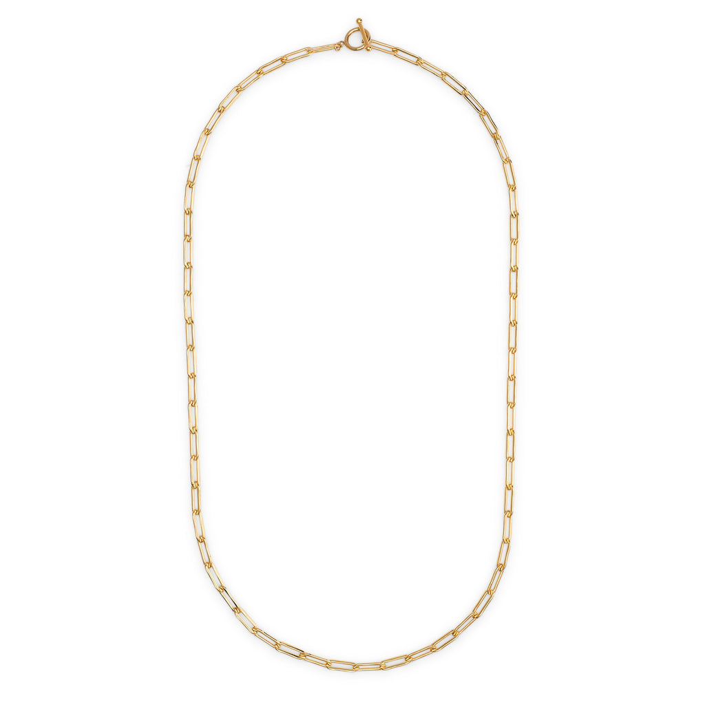 Yellow Gold Filled Chain Pick Your Length Necklace with Toggle Clasp