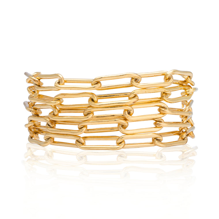 Yellow Gold Filled Five Wrap Bracelet