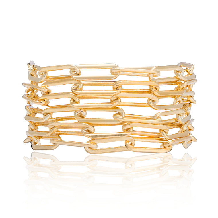 Yellow Gold Filled Six Wrap Bracelet