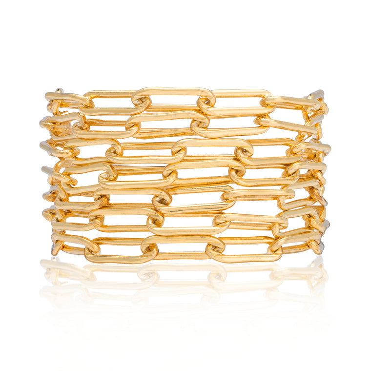 Yellow Gold Filled Seven Wrap Bracelet