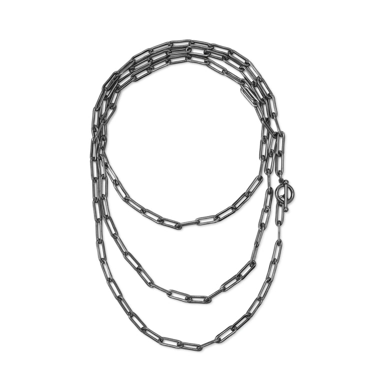 black-chain-paper-clip-necklace