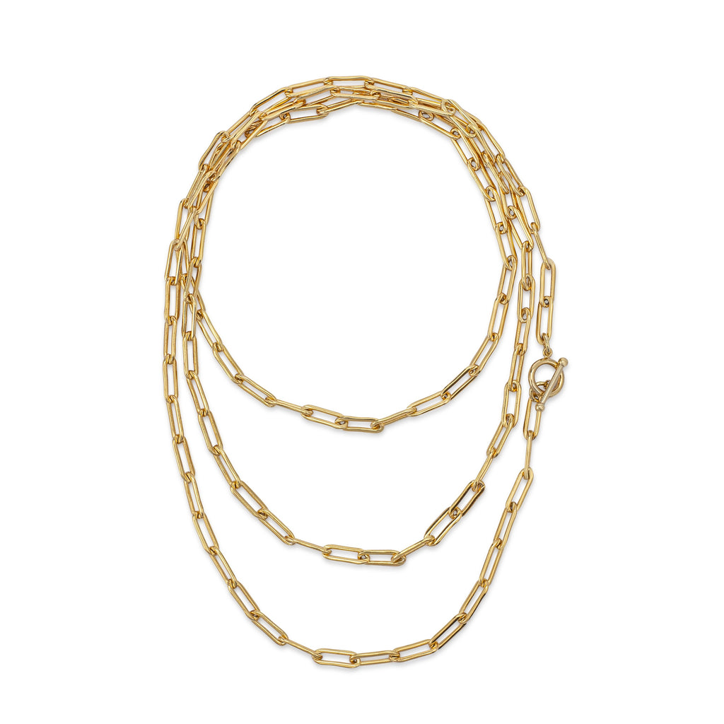 "Yellow Gold Filled 47.25"" Chain Necklace"