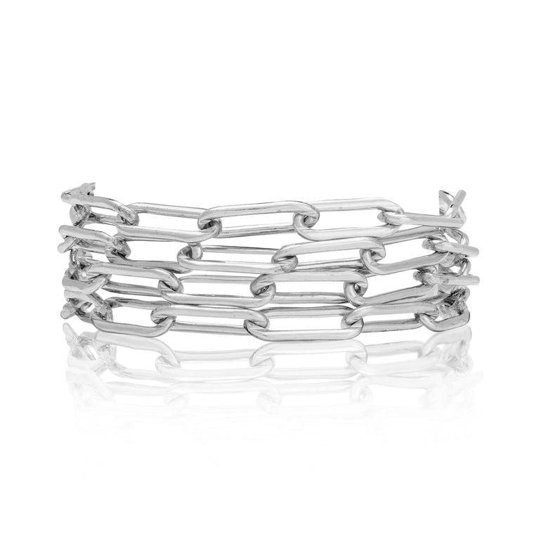 Sterling Silver Four Wrap Bracelet