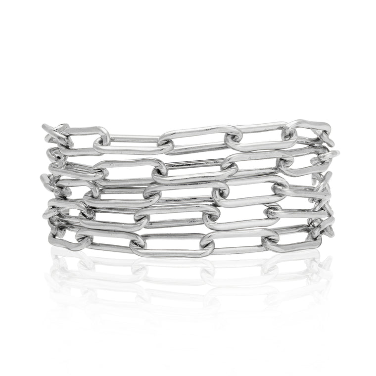 Sterling Silver Five Wrap Bracelet