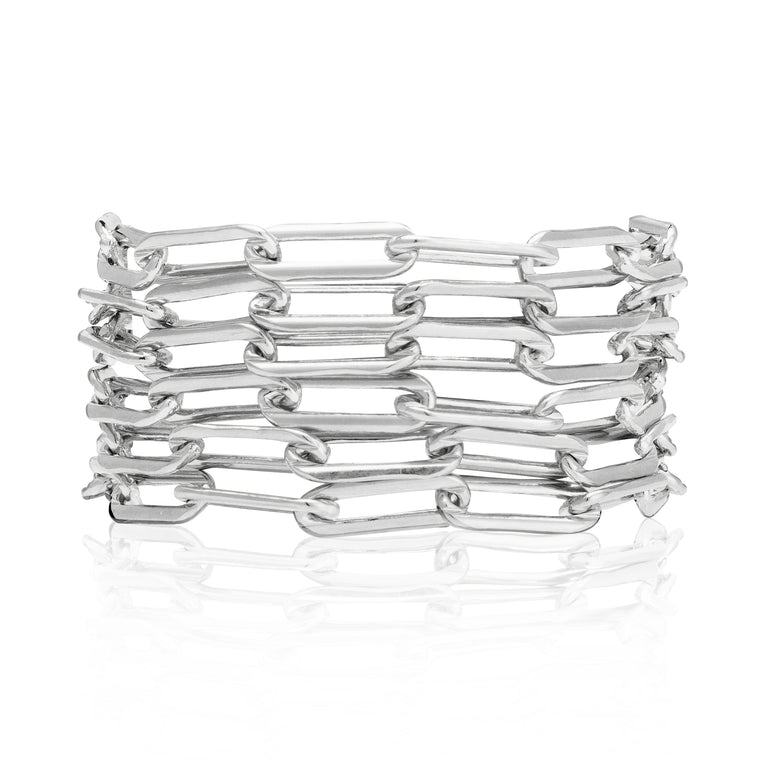 Sterling Silver Six Wrap Bracelet