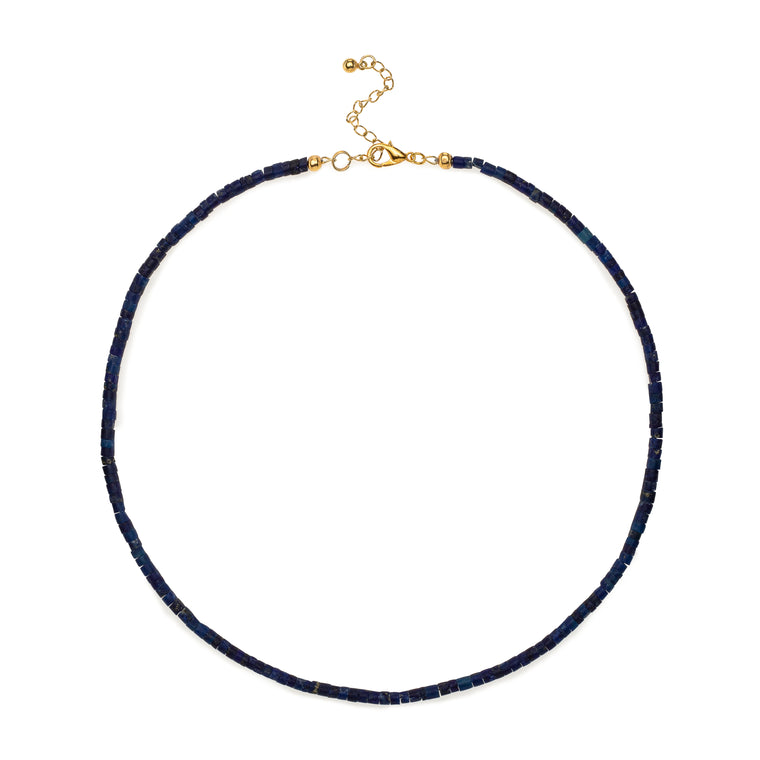 Natural Lapis Beaded Necklace