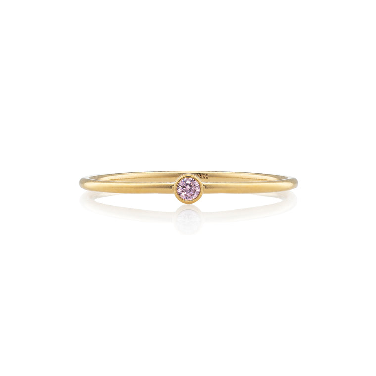 Gold Filled and Pink Tourmaline Stackable Ring
