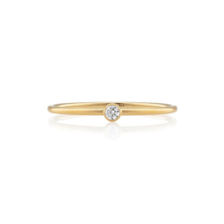 Gold Filled and Diamond Stackable Ring