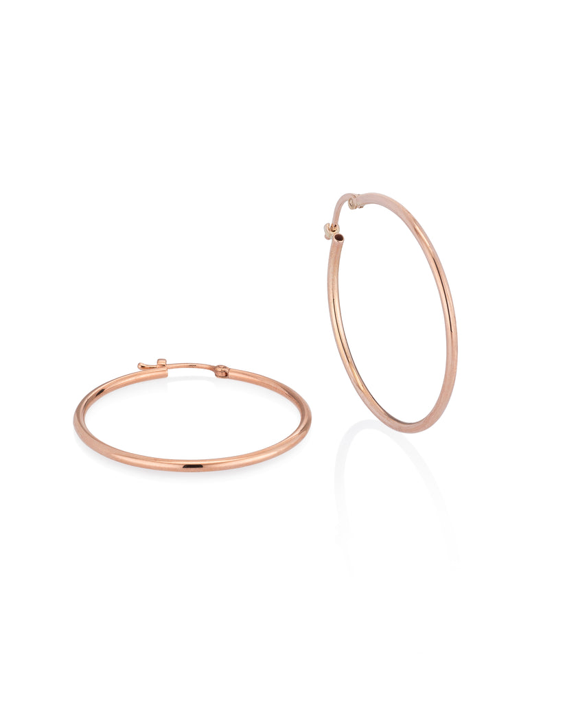 Rose Gold Large Classic Hoop