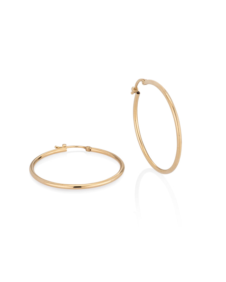 Yellow Gold Large Classic Hoop