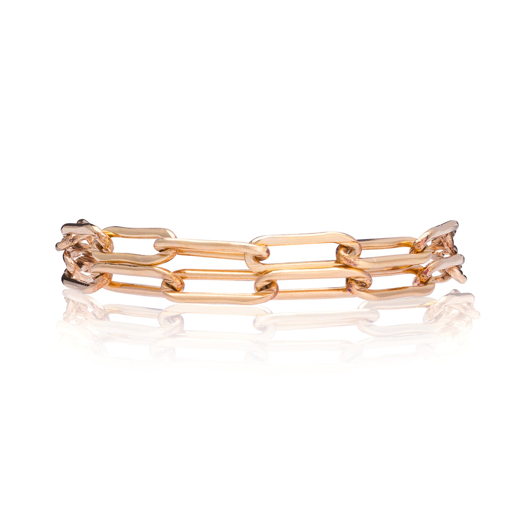 Rose Gold Filled Chain Double Wrap Bracelet
