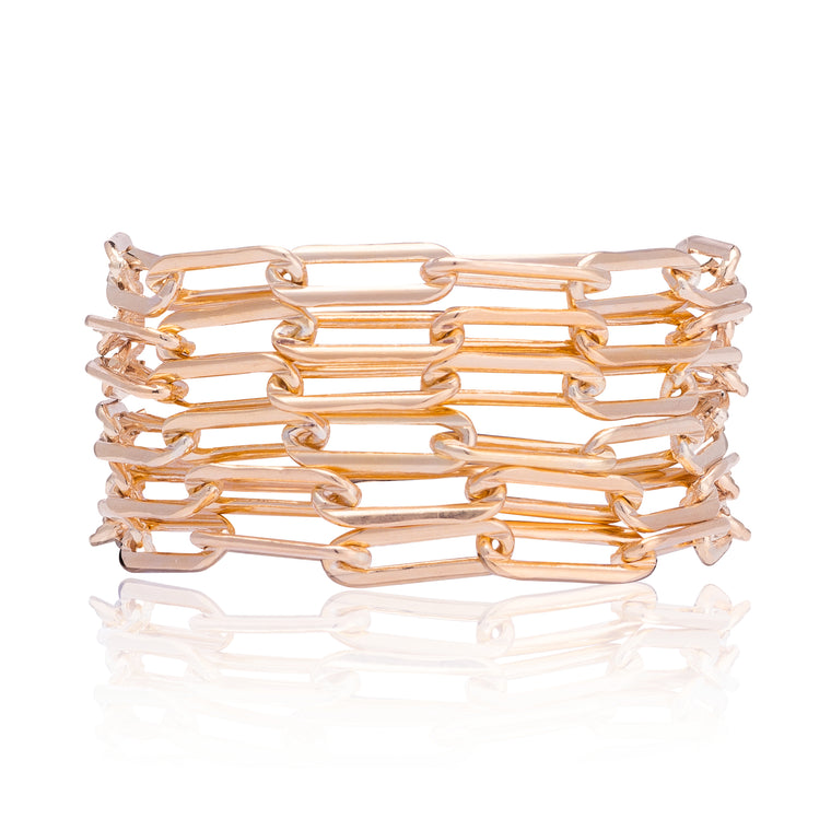 Rose Gold Filled Six Wrap Bracelet