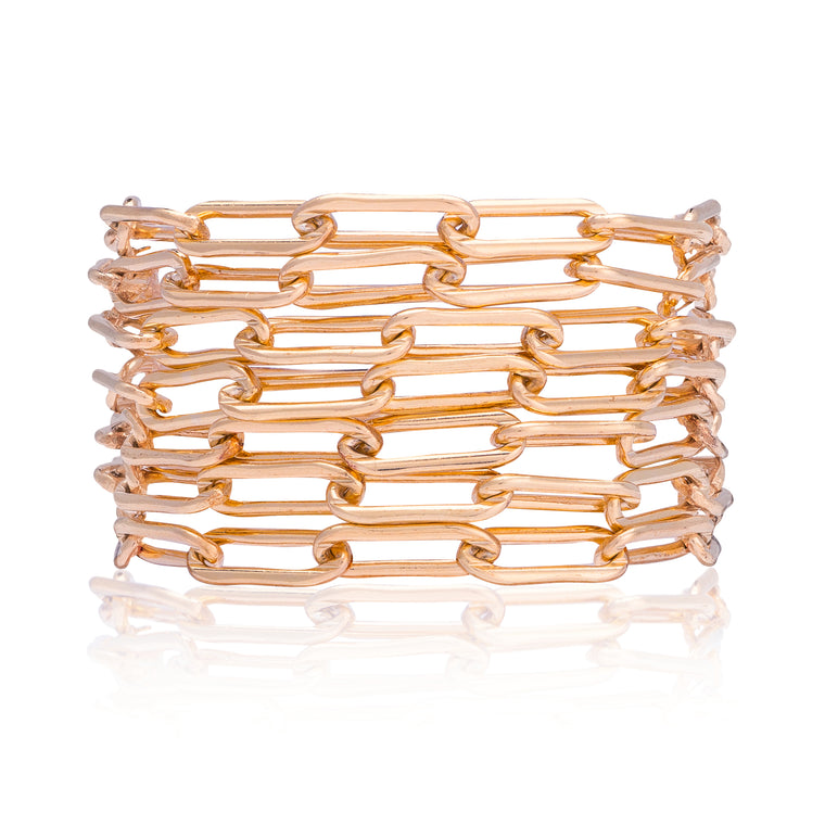 Rose Gold Filled Seven Wrap Bracelet
