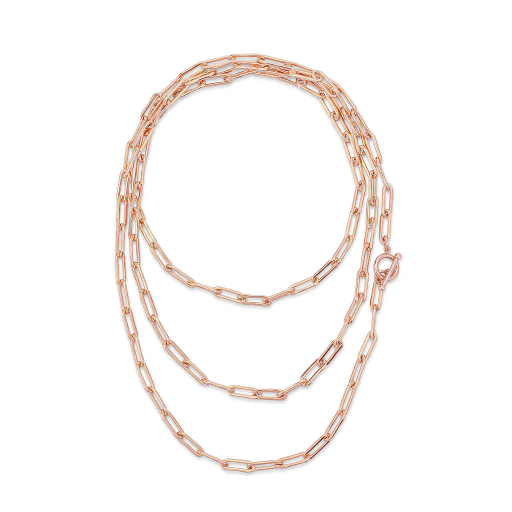 "Rose Gold Filled 47.25"" Chain Necklace"