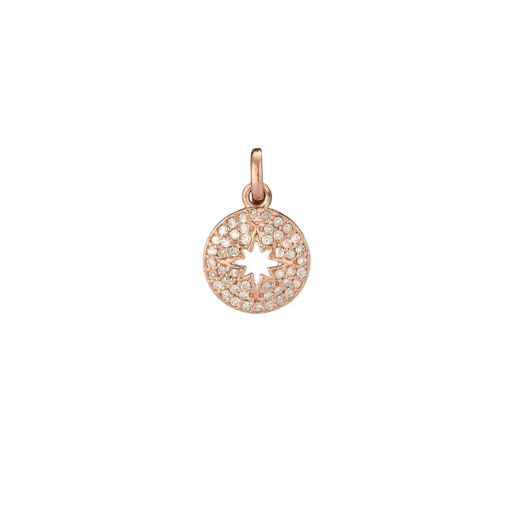 ROSE GOLD DIAMOND SUNBURST CHARM