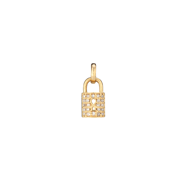 Yellow Diamond Lock Charm