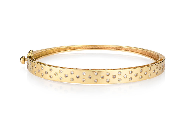 Yellow Gold and Invisibly Set Diamond Bracelet