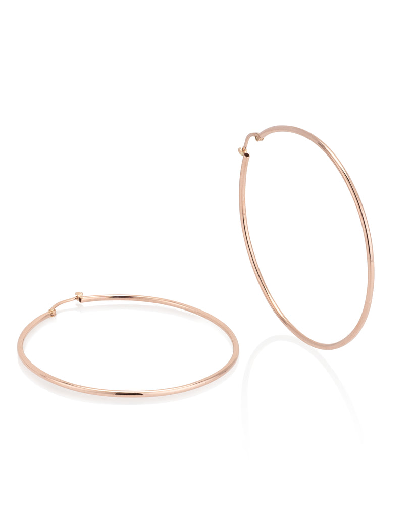 Rose Gold Jumbo Classic Hoop 50mm