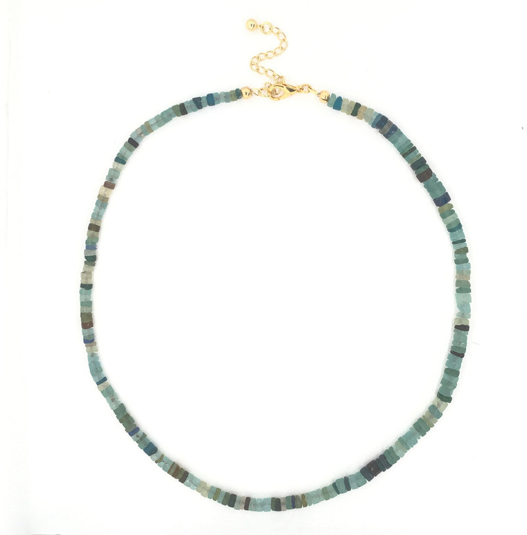 BEADED VINTAGE ROMAN GLASS NECKLACE