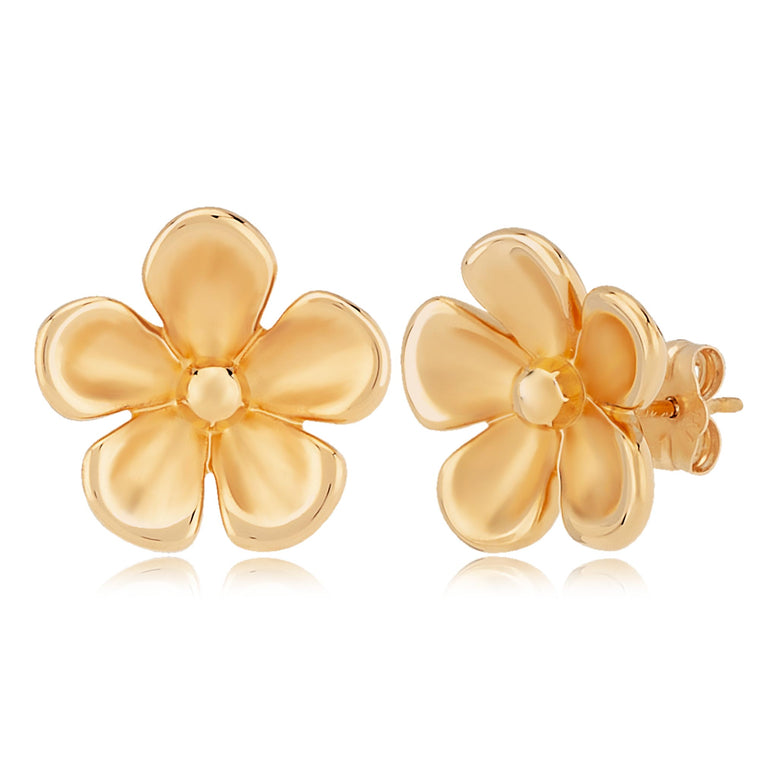 Yellow Gold Polished Daisy Stud