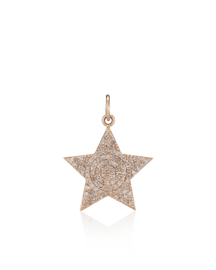 YELLOW GOLD DIAMOND JUMBO STAR CHARM