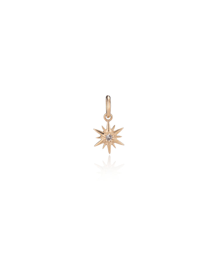 YELLOW GOLD DIAMOND ITSY NORTH STAR CHARM
