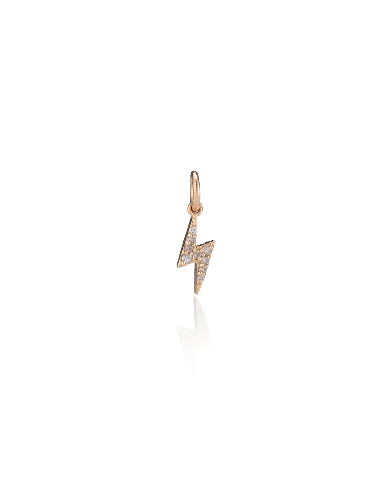 YELLOW GOLD DIAMOND ITSY LIGHTNING BOLT CHARM