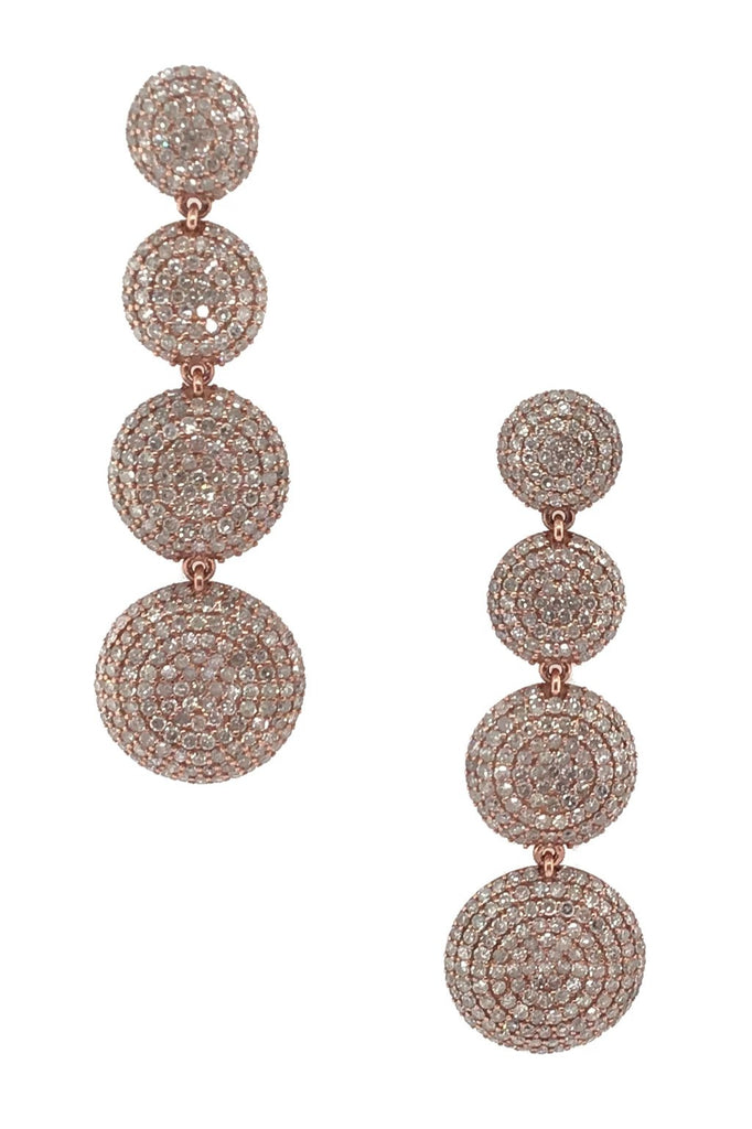 Rose Gold Diamond Thumbprint Earrings