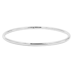 White Gold High Polished Bangle