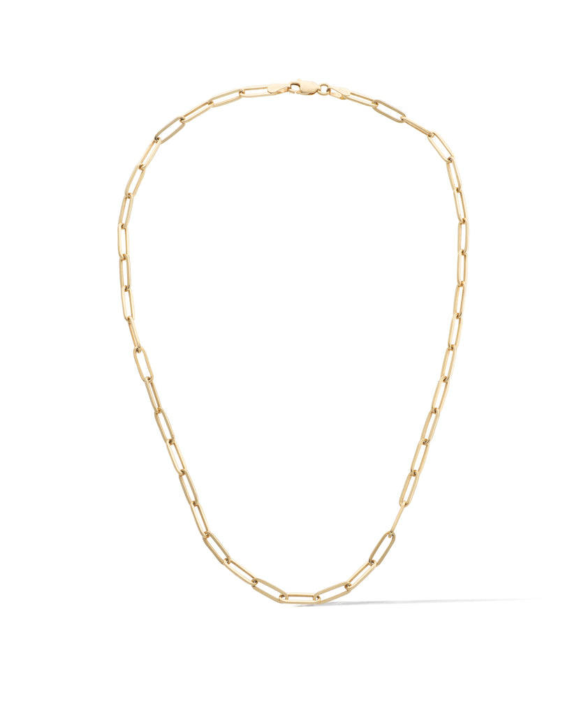 14 Karat Yellow Gold Solid Thick Paperclip Chain
