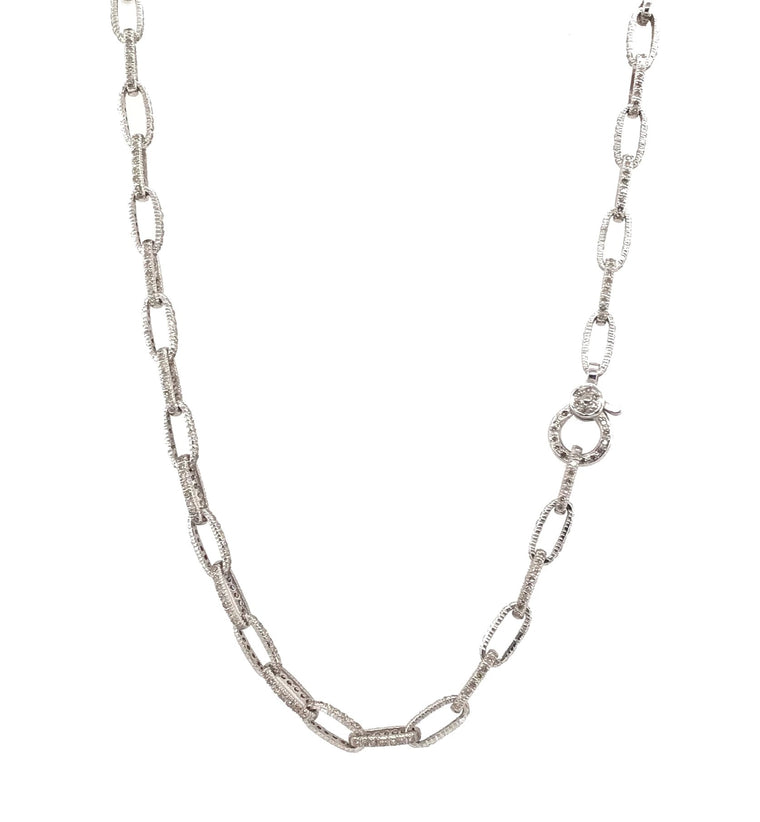 White Gold Diamond Chain Necklace