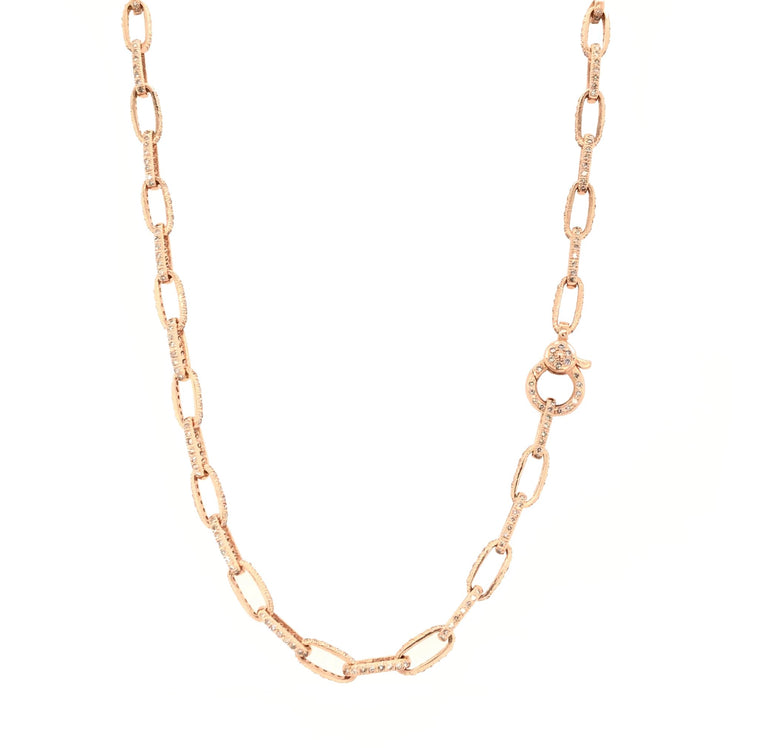 Rose Gold and Diamond Chain Necklace