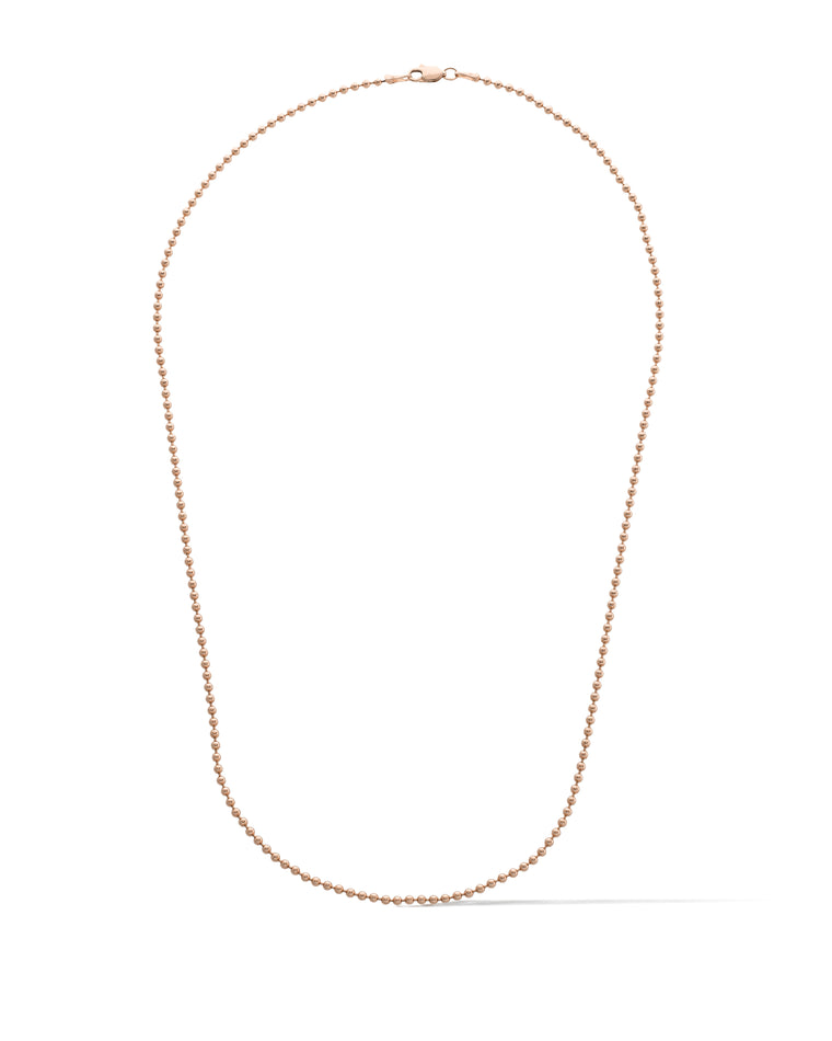 14 KARAT ROSE GOLD BALL CHAIN NECKLACE