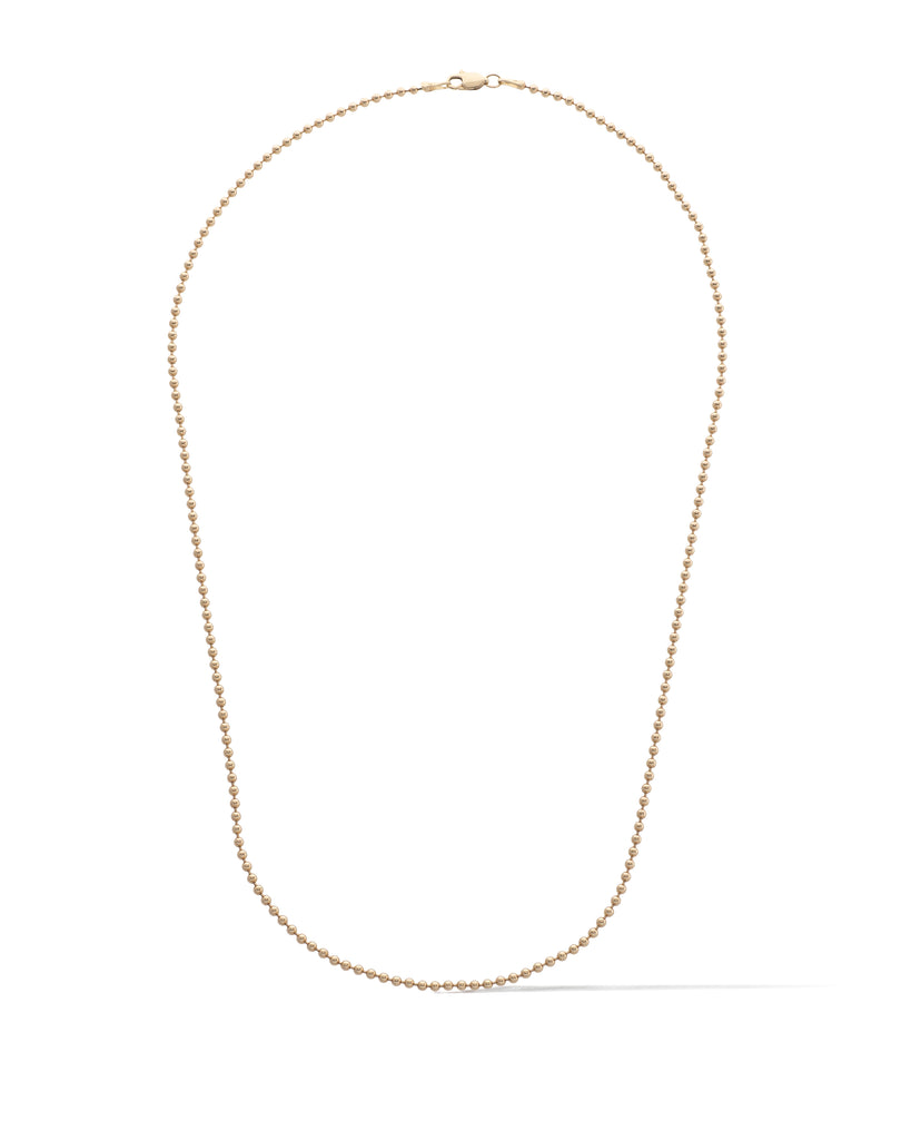 Yellow Gold Filled Ball Chain Necklace