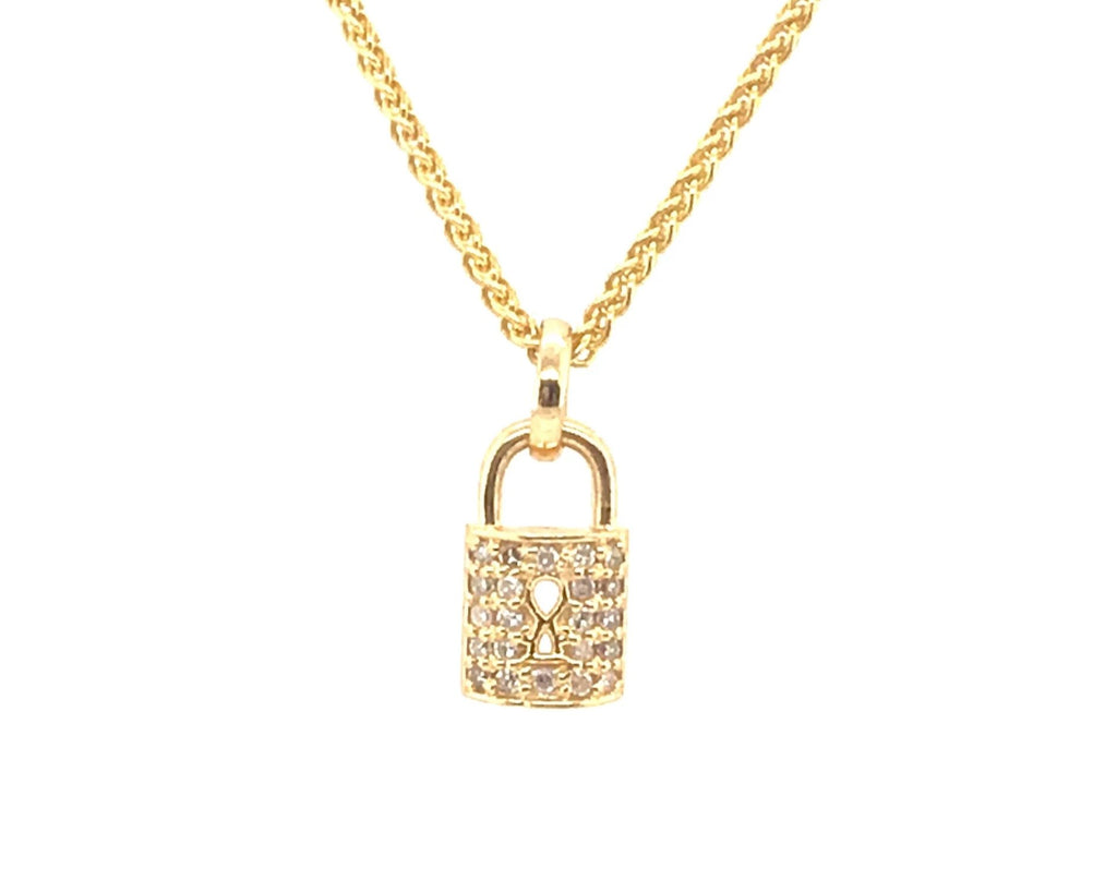 yellow-gold-diamond-lock-necklace