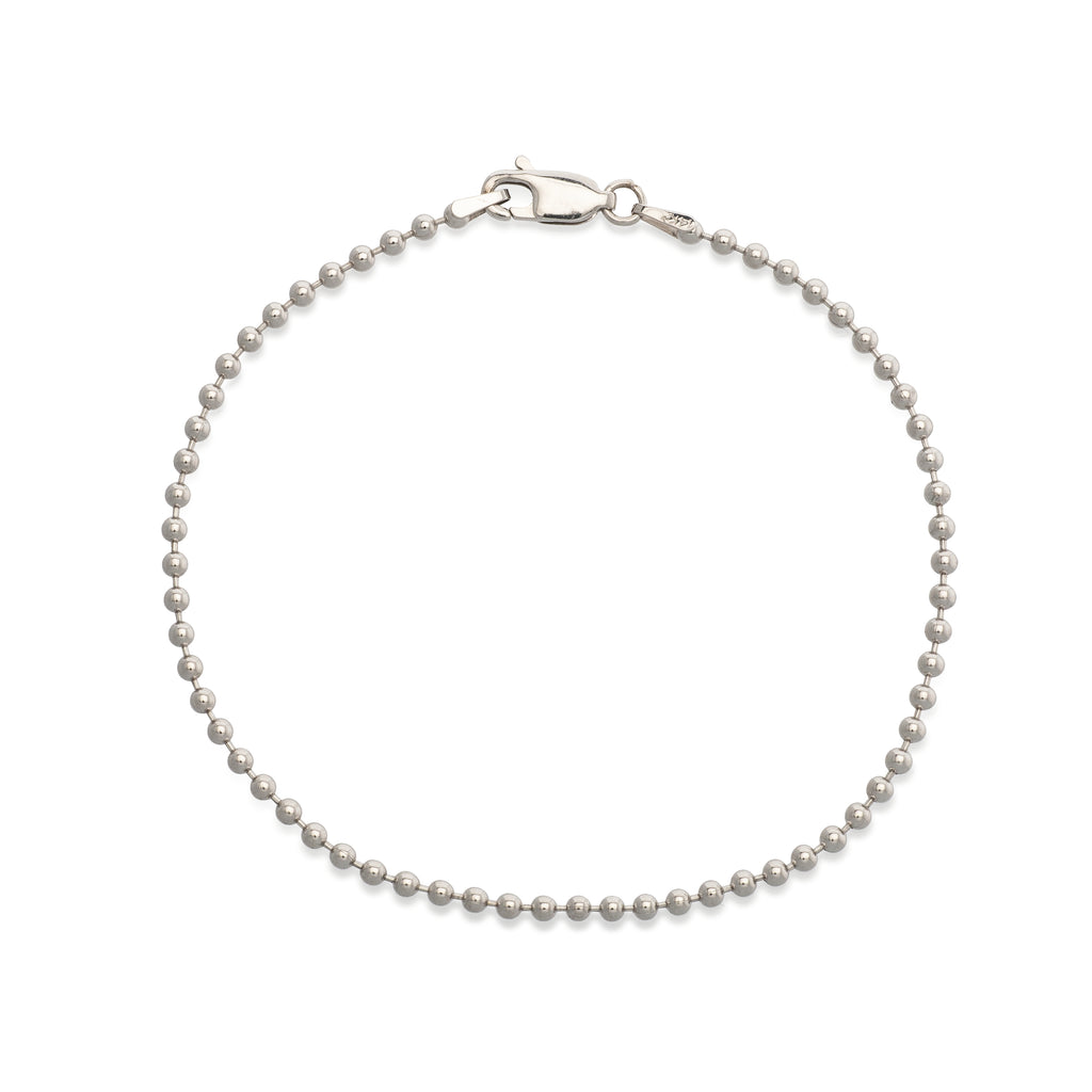 White Ball Chain Bracelet