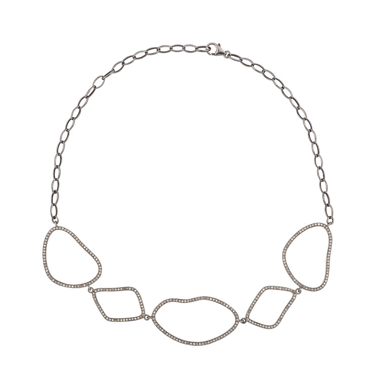 Diamond Pebble Choker Necklace