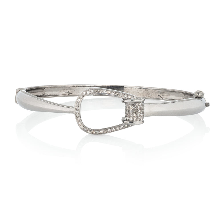 Diamond Horse Bit Buckle Bracelet