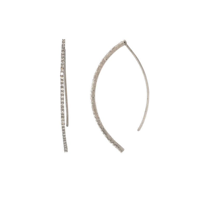 Curved Edge Diamond Hoops