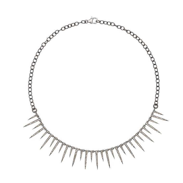 Diamond Dagger Choker Necklace