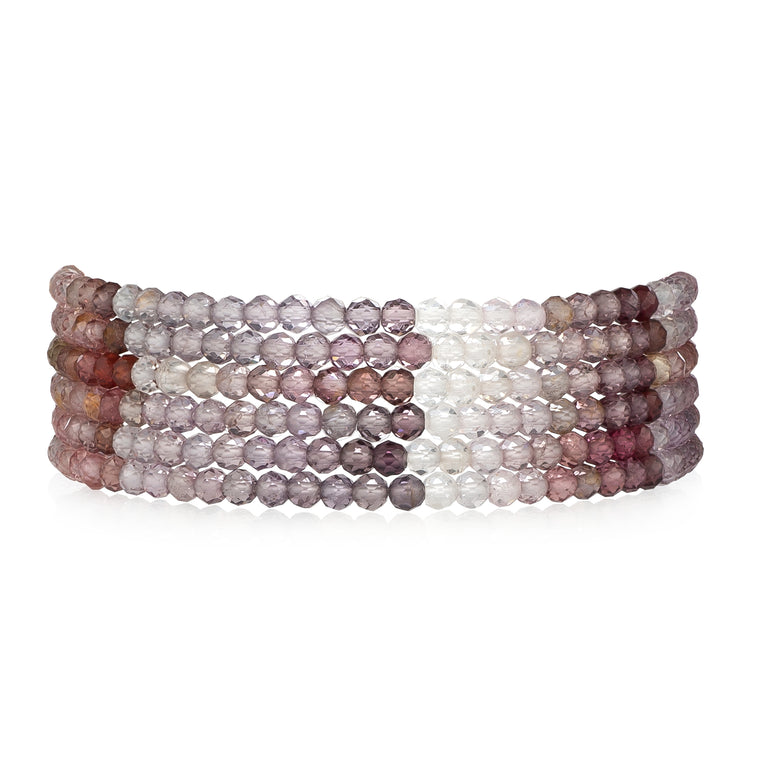 Multicolor Sapphire Six Stack Beaded Bracelets