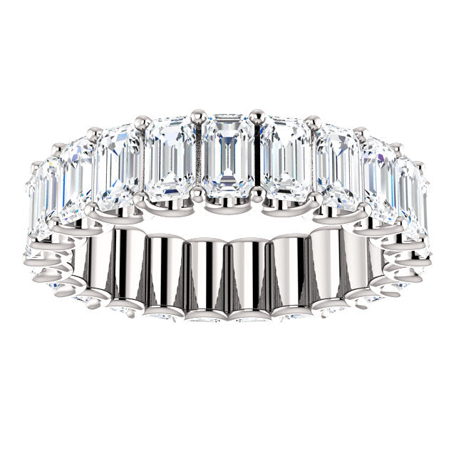 Cubic Zirconia Medium Cut White Gold Eternity Ring