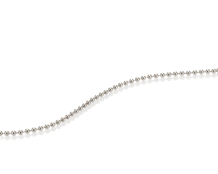 WHITE BALL CHAIN NECKLACE