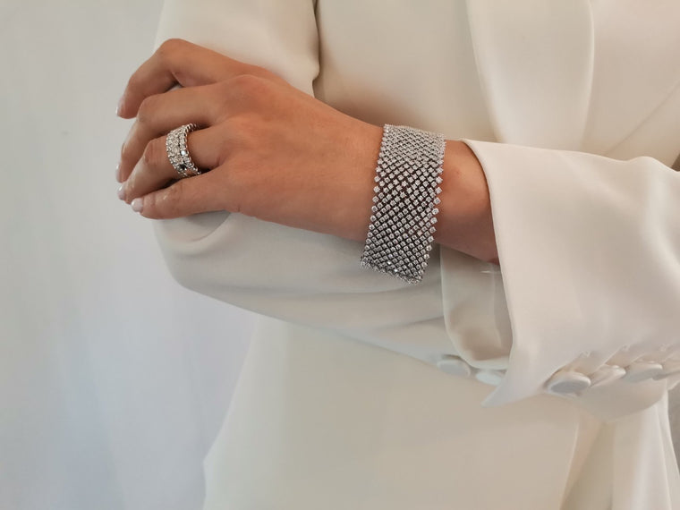 Fifteen Row Diamond Tennis Bracelet