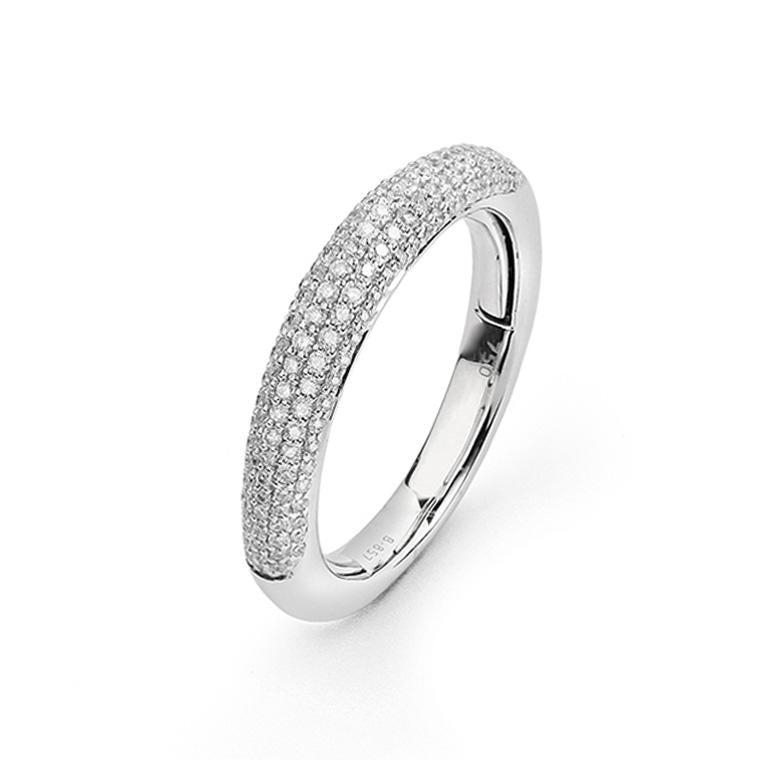 White Gold Pave Diamond Medium Band