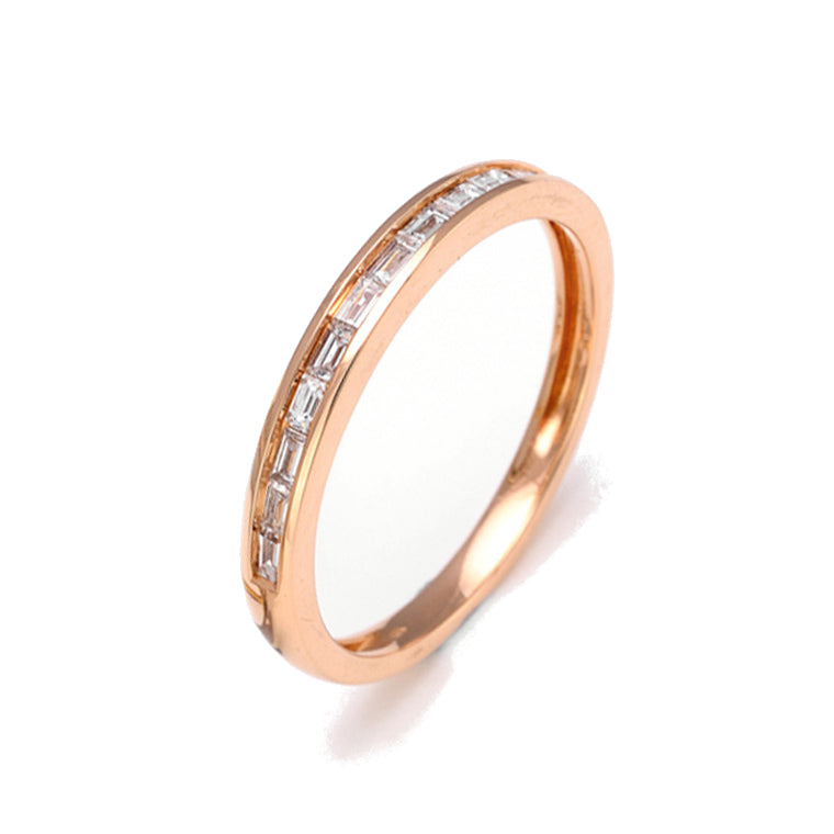 Rose Gold Diamond Baguette Band