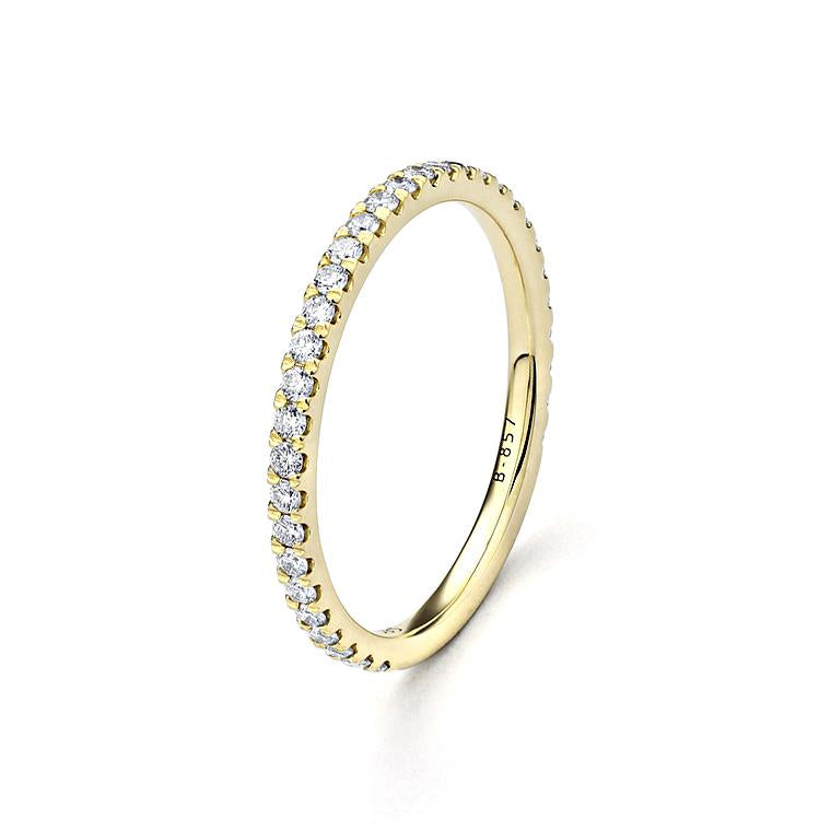 Yellow Gold Diamond Eternity Band Ring Size 6.75