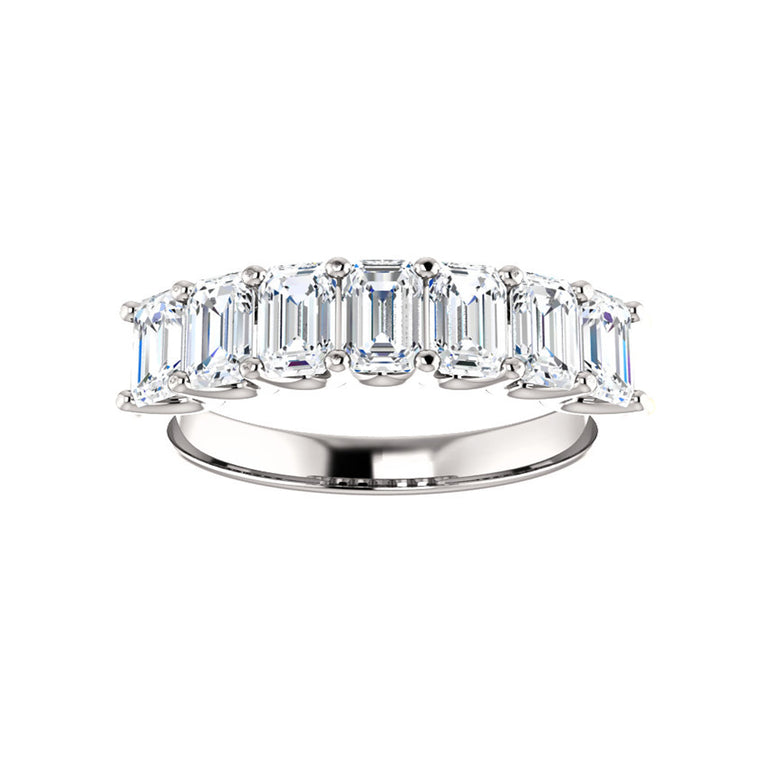 Cubic Zirconia Medium Cut White Gold Ring