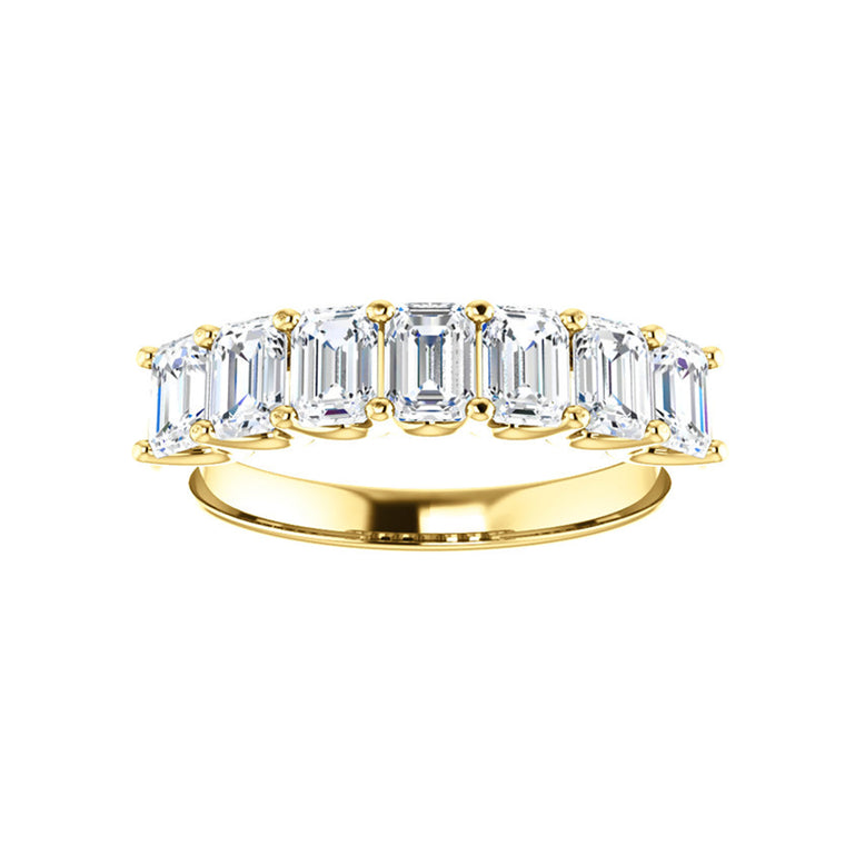 Cubic Zirconia Medium Cut Yellow Gold Ring